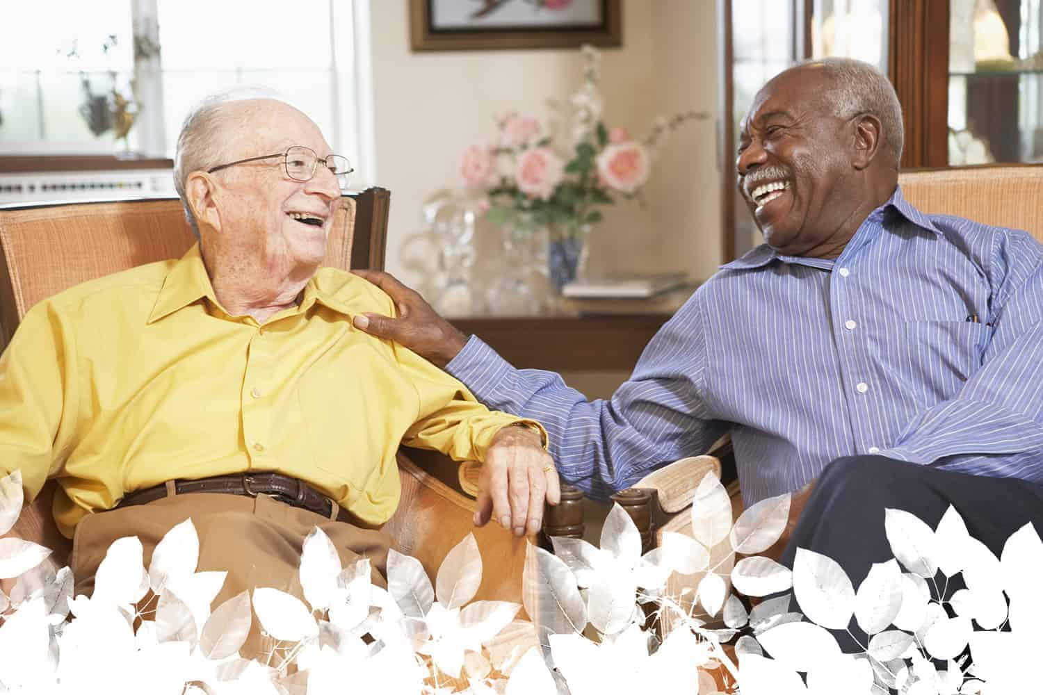 Happy senior living community Dayton